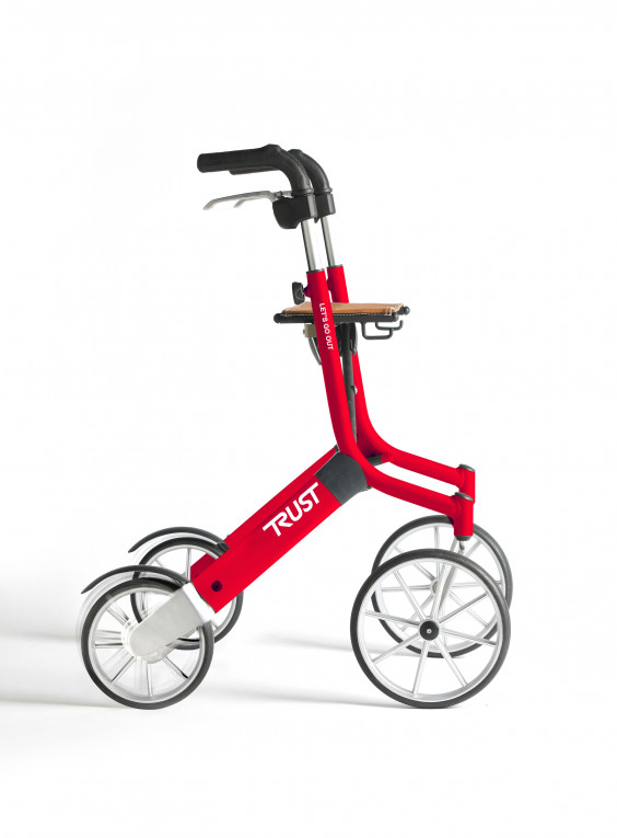 Rollator Let's go out Rouge - Mobio
