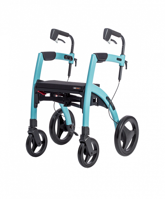 Rollator 4 roues Rollz Motion bleu turquoise brillant - Mobio