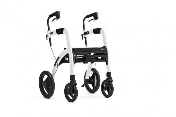 Rollator 4 roues Rollz Motion blanc brillant - Mobio