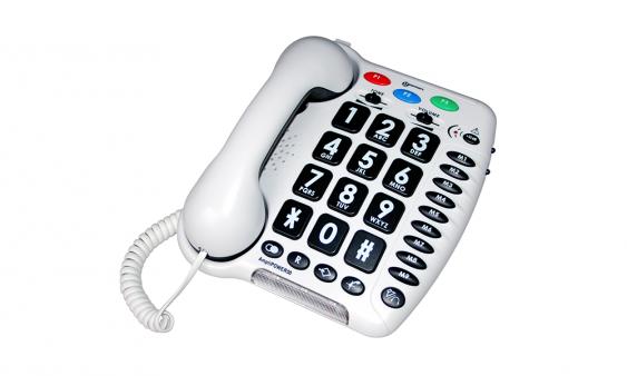 Téléphone filaire Amplipower 50 son amplifié à grosses touches