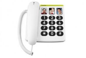 Téléphone filaire DORO EASY 311PH Blanc - Holtex