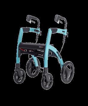 Rollator 4 roues Rollz Motion bleu turquoise brillant - Mobio