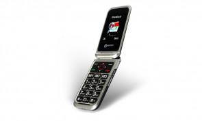 Téléphone portable senior CL8500 NOIR/SILVER ouvert