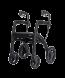 Rollator 4 roues Rollz Motion blanc noir mat - Mobio