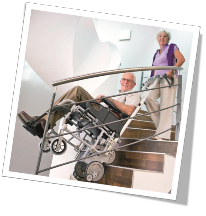 Monte escalier Scalamobil pour fauteuil roulant utilisation