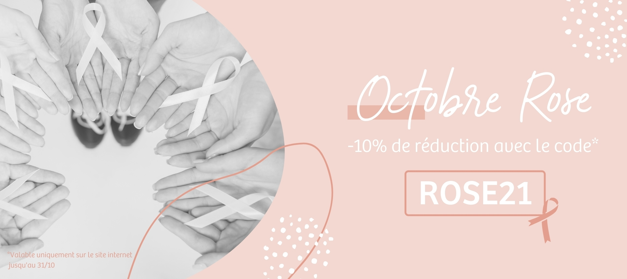 Bannière Octobre Rose 21 | Harmonie Médical Service