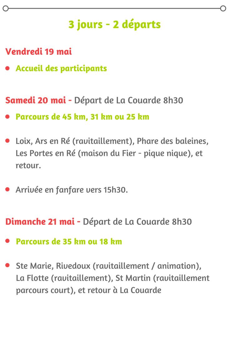 programme rétour