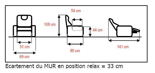 dimensions fauteuil releveur électrique Pablo