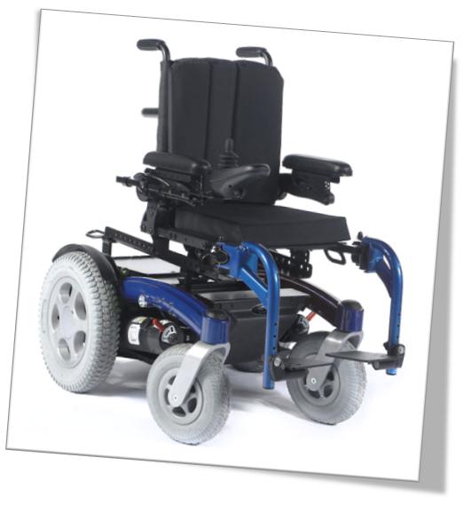 Fauteuil roulant électrique enfant Zippie Salsa Sunrise bleu