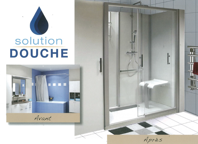 Transformez votre baignoire en douche sécurisée | Solution Douche